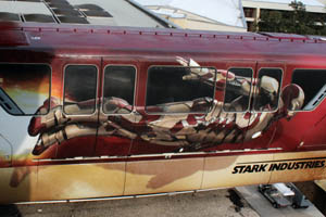 Marvel Iron Man 3 Monorail at Walt Disney World Photo 002