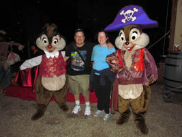video 1 disneys fort wilderness resort halloween campsite decorations chip dale in costume 103011 chip dale dressed in their halloween
