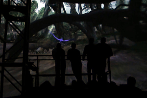 Imagineer Testing Avatar Land Banshee Ride